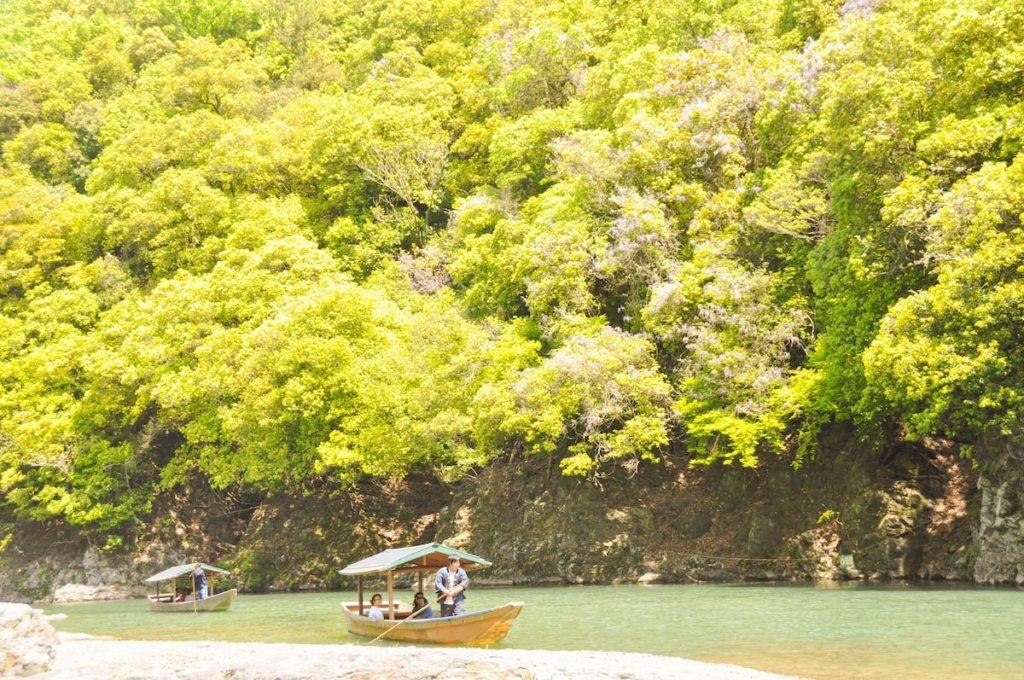 嵐山屋形船新緑