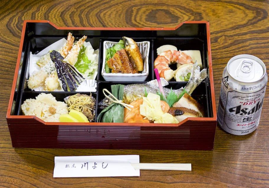 松尾 川よし 鮎塩焼き弁当