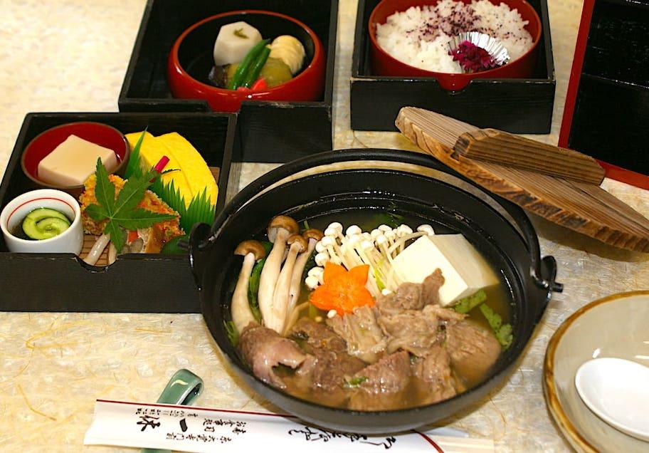 京料理 一休 山椒鍋と京弁当